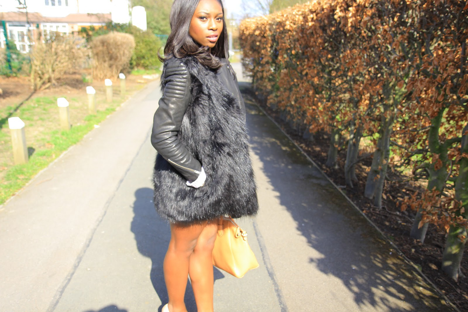 Leather & Faux Fur